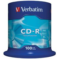 CD-R 700MB 52x Cake 100pz VERBATIM Extra Protection