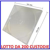CUSTODIA 5.2mm CD SLIM SINGOLA con TRAY CLEAR Conf.200pz