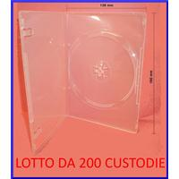 CUSTODIA 7mm DVD SINGOLA CLEAR macch. HQ Conf.200pz