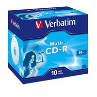 CD-R AUDIO 80min Jewel 10pz VERBATIM Music