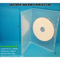 CUSTODIA 7mm DVD SINGOLA CLEAR macch. HQ