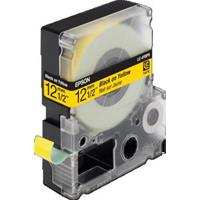 NASTRO NERO su GIALLO 12mm x 9mt COMPATIBILE EPSON ( LC-4YBP9 )