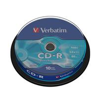 CD-R 700MB|80min 52x Cake 10pz VERBATIM Extra Protection