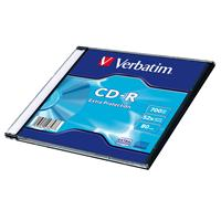 CD-R 700MB|80min 52x Slim 1pz VERBATIM Extra Protection