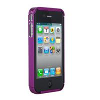 QOOPRO Cover in ALLUMINIO ROSA per Apple iPhone 4/4S