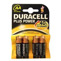 STILO AA ALCALINA DURACELL (MN1500 / LR06 - 4ba) 1.5V PLUS POWER