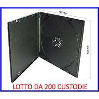 CUSTODIA 5mm in PP SINGOLA NERA QUADRATA Conf.200pz