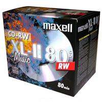 CD-RW AUDIO 700MB|80min Jewel 10pz MAXELL XL-II Music