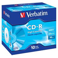 CD-R 800MB|90min 40x Jewel 10pz VERBATIM Extra Protection
