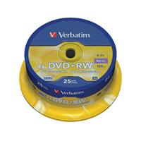 DVD+RW 4.7GB|120min 4x Cake 25pz VERBATIM SERL ReWritable