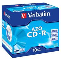 CD-R 700MB 52x Jewel 10pz VERBATIM Azo