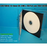 CUSTODIA 10.4 CD JEWEL TRIPLA TRAY NERO assemblato