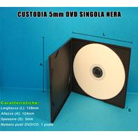 CUSTODIA 5mm in PP SINGOLA NERA QUADRATA