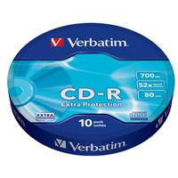 CD-R 700MB|80min 52x Shrink 10pz VERBATIM Extra Protection