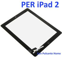 Touch Screen con Pulsante Home e Adesivo COMPATIBILE per Apple iPad 2 Nero