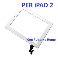 Touch Screen con Pulsante Home e Adesivo COMPATIBILE per Apple iPad 2 Bianco
