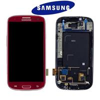DISPLAY LCD + TOUCH ORIGINALE (SVC/RW) PER I9300 ROSSO 13630C
