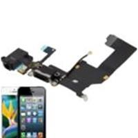 Basetta Connettore Carica Audio cavo flat COMPATIBILE per Apple iPhone 5 Bianco