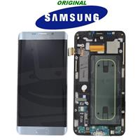 DISPLAY LCD + TOUCH ORIGINALE per GALAXY S6 EDGE + SM-G928F SILVER GH97-17819D