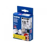 BROTHER NASTRO TZE-SE4 NERO SU BIANCO 18mm x 8mt ORIGINALE