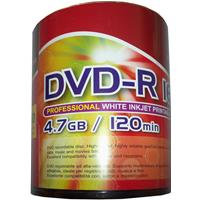 DVD-R 4.7GB|120min 16x Shrink 100pz CMC Stampabile Bianca 23-118mm