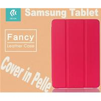 Cover Fancy in pelle per Tablet Samsung TabS2 8.0 T715 Rossa