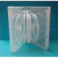 CUSTODIA 40mm DVD 12 posti CLEAR 5 inserti