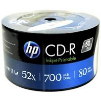 CD-R 700MB 52x Shrink 50pz HP Stampabile Bianca 23.5-118mm NoID