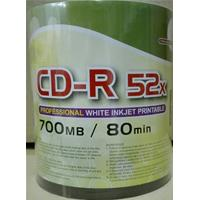 CD-R 700MB 52x Shrink 100pz CMC Stampabile Bianca 23-118mm