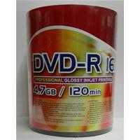 DVD-R 4.7GB|120min 16x Shrink 100pz CMC Stampabile Bianca Lucida 23-118mm