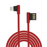 Cavo King USB - Lightning ad angolo 90° Rosso