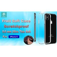 Cover Fruit Soft 0.6mm Anti Graffio 4H iPhone X Trasparente