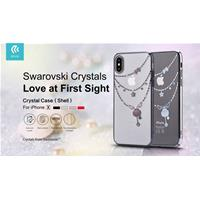 Cover Swarovski Crystal Shell per iPhone X Rossa