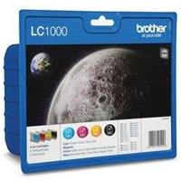 BROTHER CARTUCCIA LC1000VALBP MULTIPACK ORIGINALE - (1bk+1c+1m+1y)