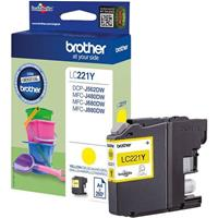 BROTHER CARTUCCIA LC221Y GIALLO ORIGINALE