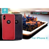 Cover Linger per iPhone X Rossa