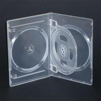 CUSTODIA 14mm DVD QUADRUPLA CLEAR LUCIDO con 1 inserto