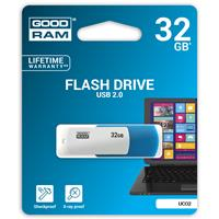 PEN DRIVE 32GB GoodRam USB 2.0 UCO2 BLU E BIANCA SWIVEL