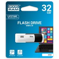 PEN DRIVE 32GB GoodRam USB 2.0 UCO2 NERA E BIANCA SWIVEL