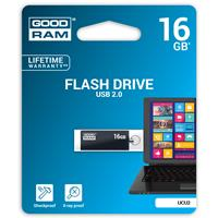PEN DRIVE 16GB GOODRAM USB 2.0 UCU2 NERA con SWIVEL 20R/5W