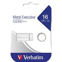 PEN DRIVE 16GB VERBATIM USB 2.0 Metal Executive Silver