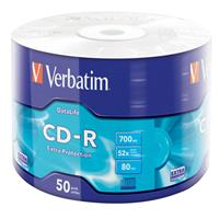 CD-R 700MB|80min 52x Shrink 50pz VERBATIM Extra Protection