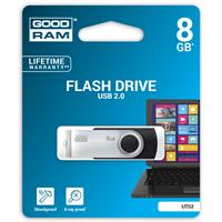 PEN DRIVE 8GB GoodRam USB 2.0 UTS2 NERA con SWIVEL