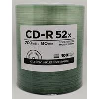 CD-R 700MB|80min 52x Shrink 100pz CMC Stampabile Bianca Lucida 23-118mm