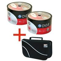 DVD-R 4.7GB|120min 16x Shrink 100pz HP + borsa 96 posti