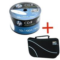 CD-R 700MB|80min 52x Shrink 50pz HP Stampabile Bianca + borsa 48 posti