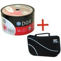 DVD-R 4.7GB|120min 16x Shrink 50pz HP + borsa 48 posti