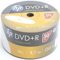 DVD+R 4.7GB|120min 16x Shrink 50pz HP Stampabile Bianca 23.5-118mm NoID