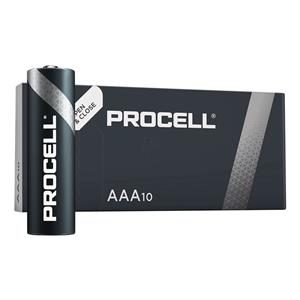 MINISTILO AAA ALCALINA DURACELL PROCELL/INDUSTRIAL (MN2400 / LR03 - 10ba) 1.5V Conf.10pz