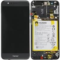 Lcd Con Frame e Batteria 02350VAS Honor 8 Originale Nero